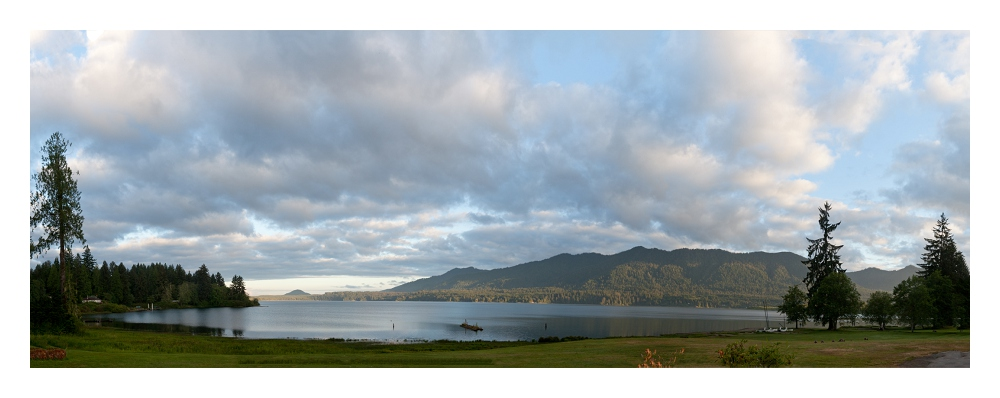 Lake Quinault, Olympic Peninsula, WA at dawn