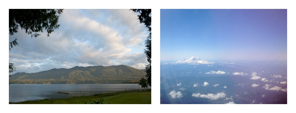 Lake Quinault and Mount Rainier, WA